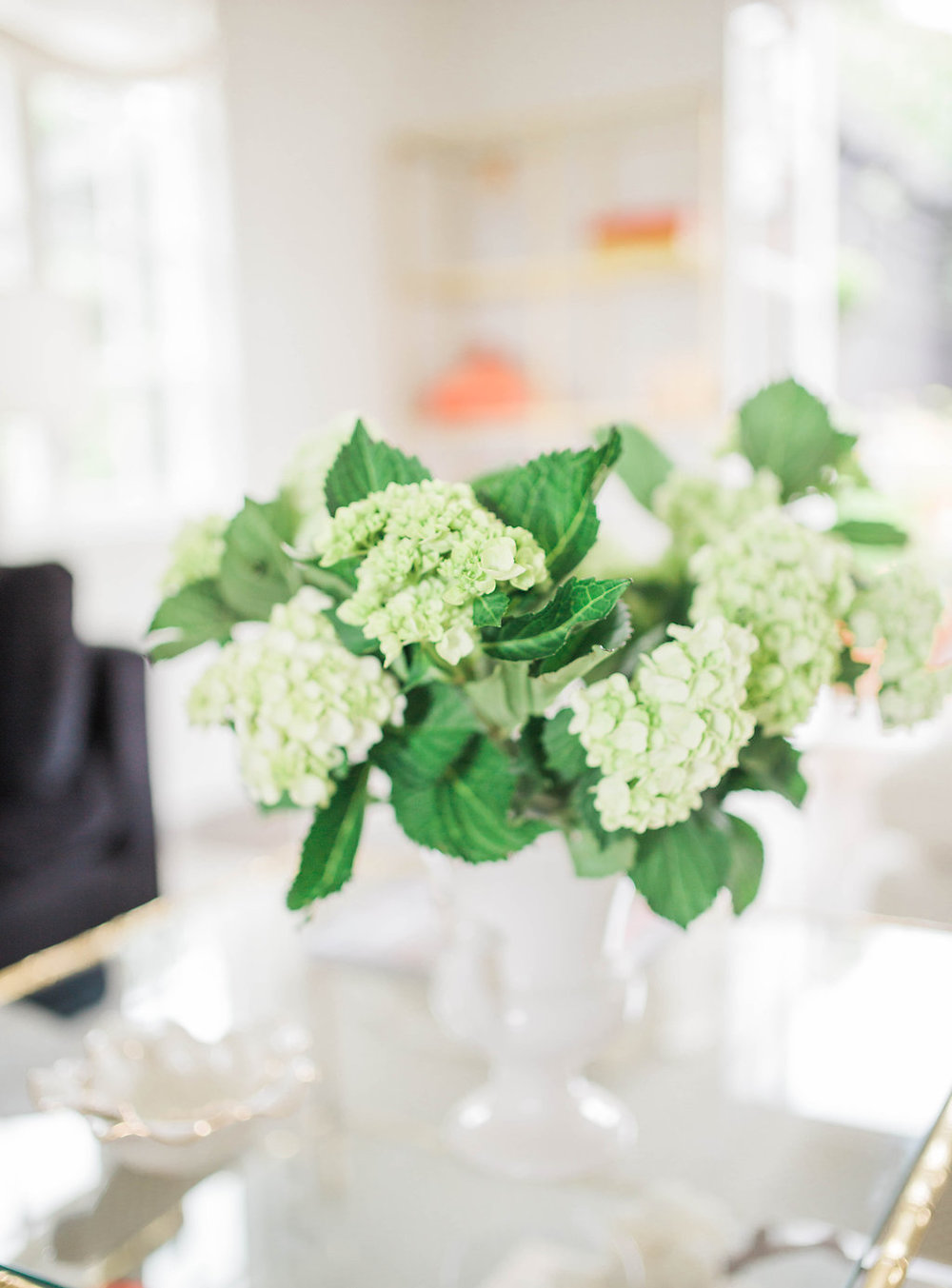Hydrangeas from the yard | Interior Design | Dreamy White Lifestyle | Living Room Goals | Dream White Home | Dream Home Tour | White House | Stunning Kitchen | As Featured in Style Me Pretty | SMP Living