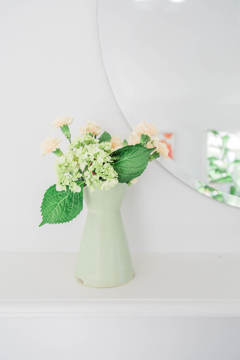 Hydrangeas from the yard | Interior Design | Dreamy White Lifestyle | Living Room Goals | Dream White Home | Dream Home Tour | White House | Stunning Kitchen | As Featured in Style Me Pretty | SMP Living | Gorgeous Living Room Decor | How to Style Your Living Room