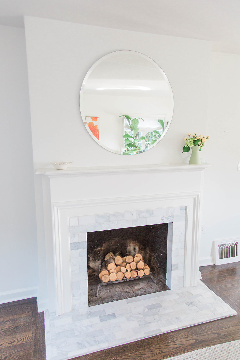 Hydrangeas from the yard | Interior Design | Dreamy White Lifestyle | Living Room Goals | Dream White Home | Dream Home Tour | White House | Stunning Kitchen | As Featured in Style Me Pretty | SMP Living | Gorgeous Living Room Decor | How to Style Your Living Room | Marble Fireplace
