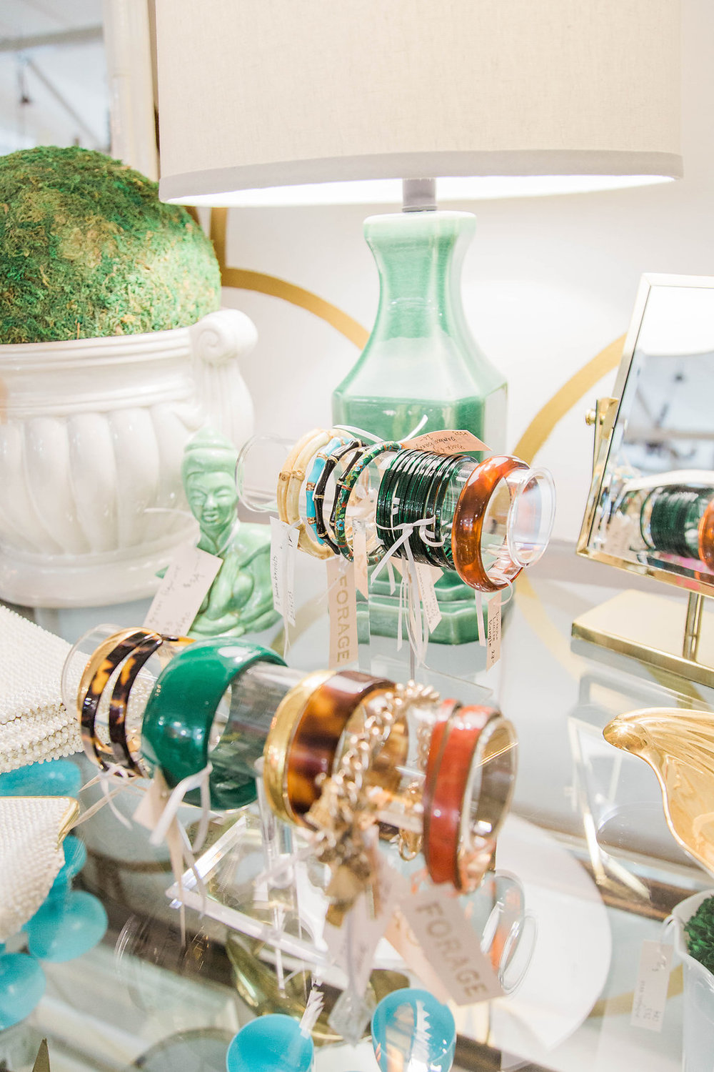 Forage Retail | Downtown Seattle, Washington | Antique Mall | Dreamy White and Gold Lifestyle | Event Decor | Dream White Home | Dream Home Tour | White House | Stunning Space | As Featured in Style Me Pretty | SMP Living | Gorgeous Retail Space | How to Style Your Life | Beautiful jewelry