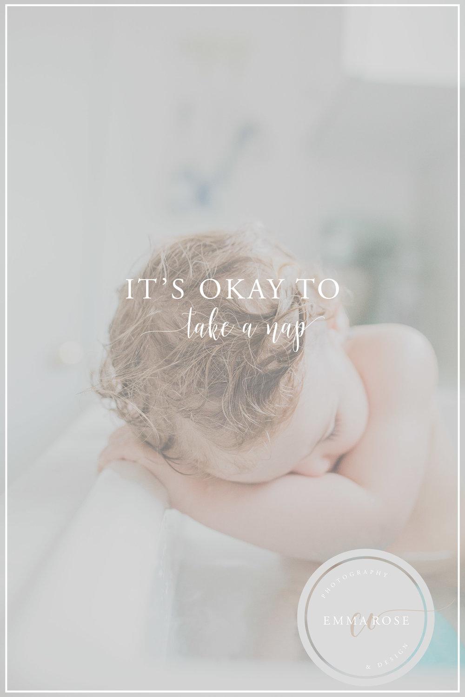 It's okay to take a nap