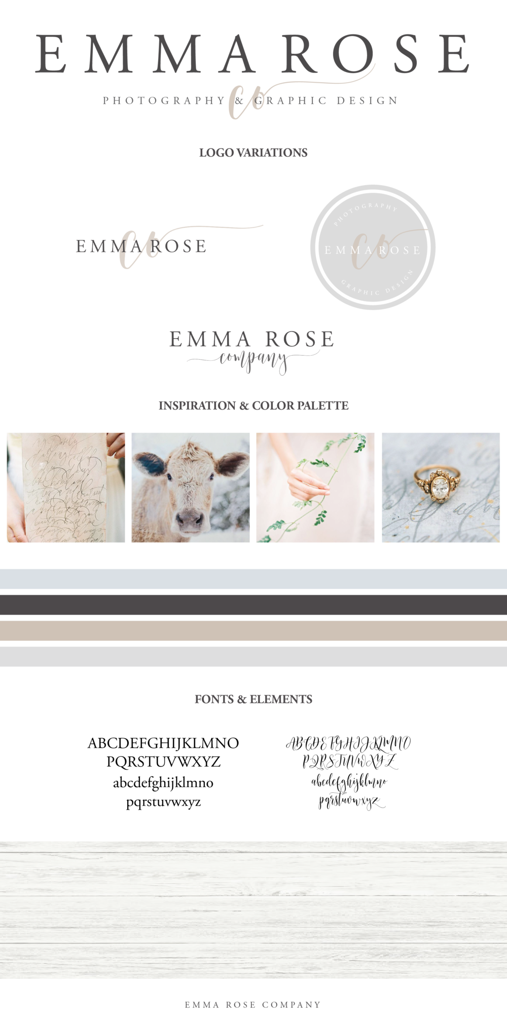 Emma Rose Designs Brand Style Guide | Beautiful Branding | Graphic Designer | Small Business Tips and Strategies | Branding inspiration