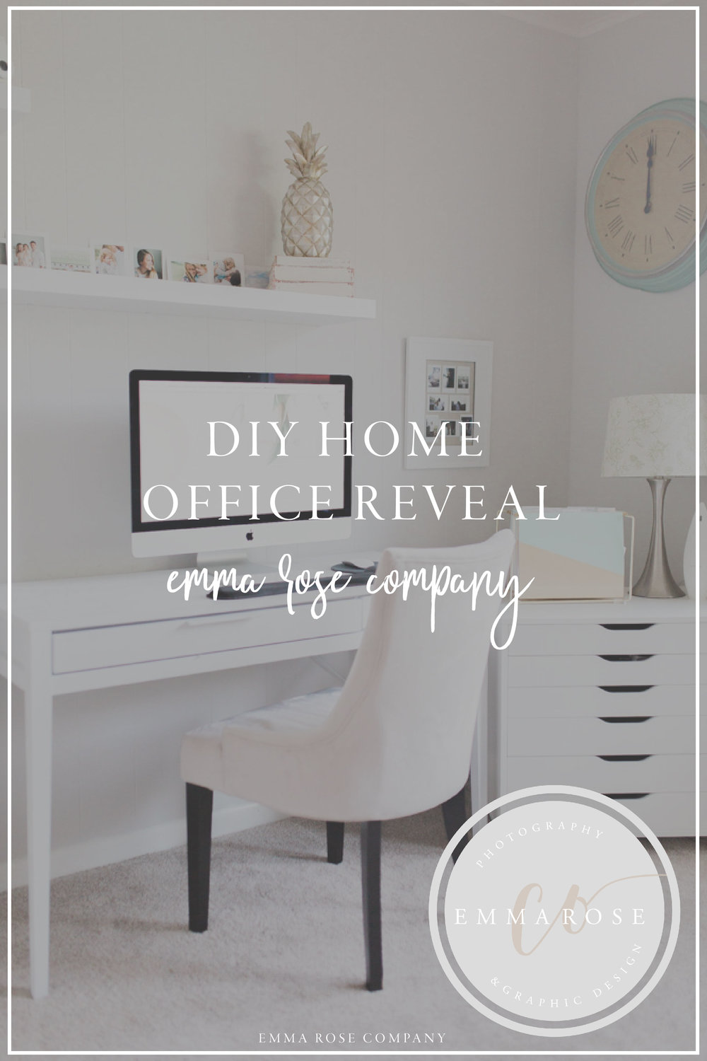 Office Makeover | Beautiful Home Office | DIY Project | Office Reveal | Renovation Series | Emma Rose Designs | Inspirational Office Space | DIY