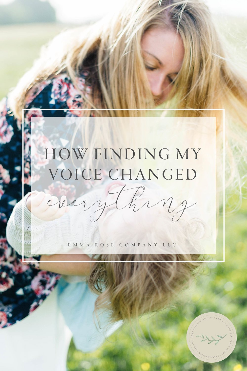 How finding my voice changed everything for myself and my small business | Mom and Baby Girl | Family Photo Shoot