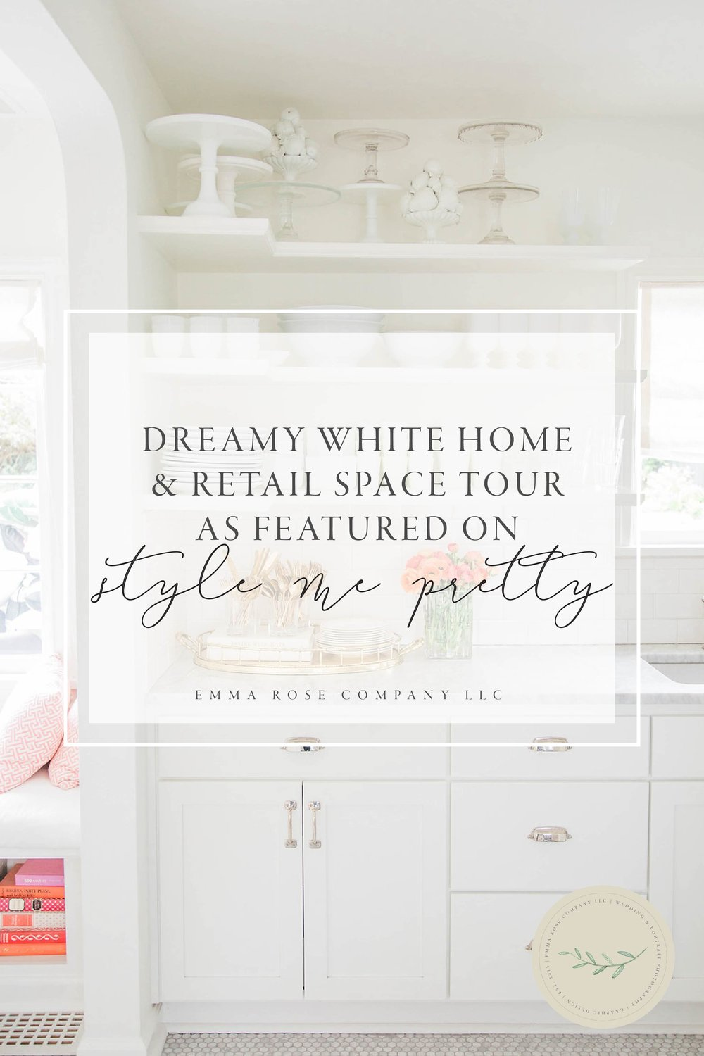 Dreamy White Home and Retail Space Tour | Seattle Washington Dream Home | Dreamy White Home | White Kitchen | Interior Design | Gorgeous Home | Style Me Pretty Living