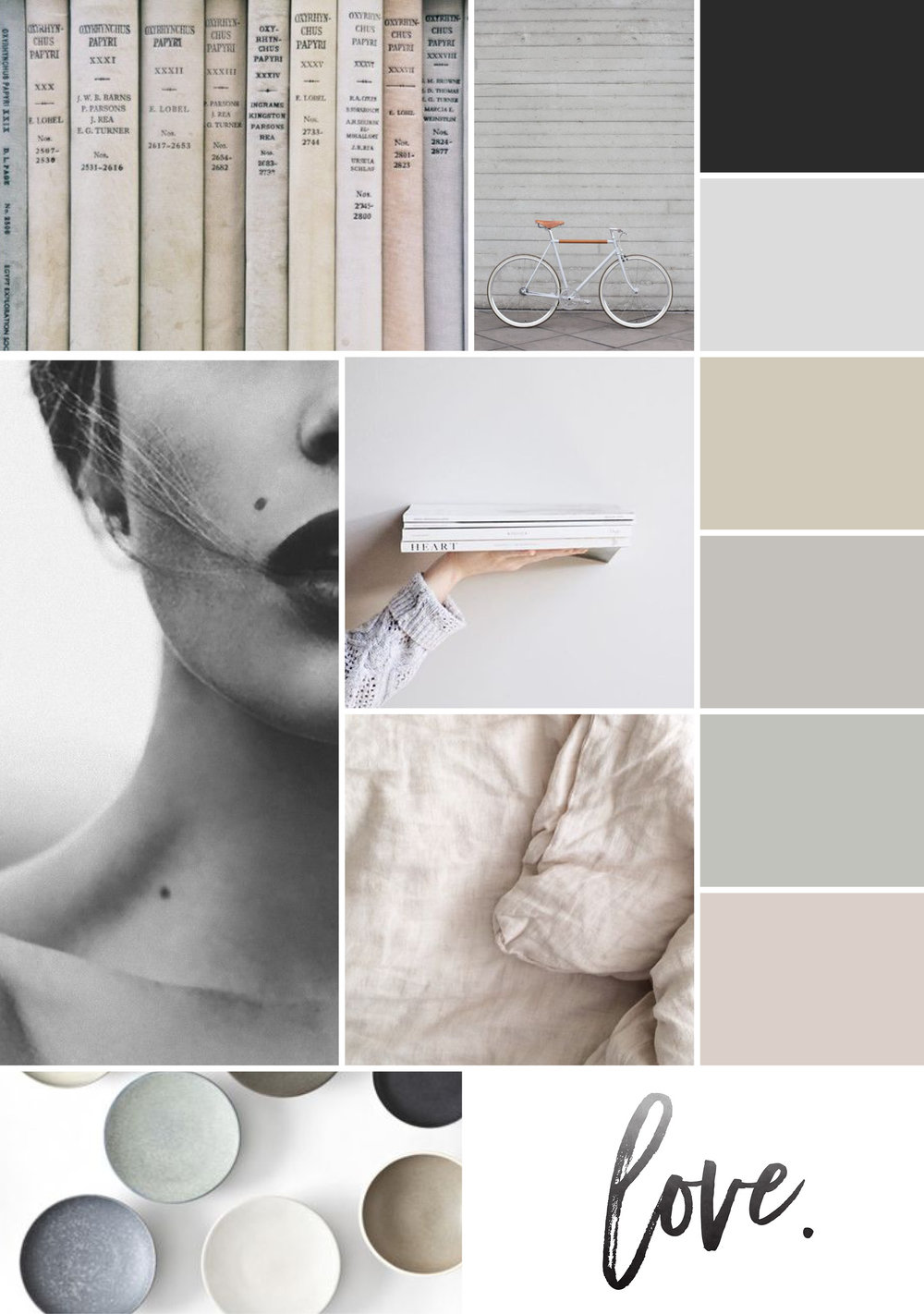 Ashley Burns Photography Mood Board | Branding Inspirational Mood Board