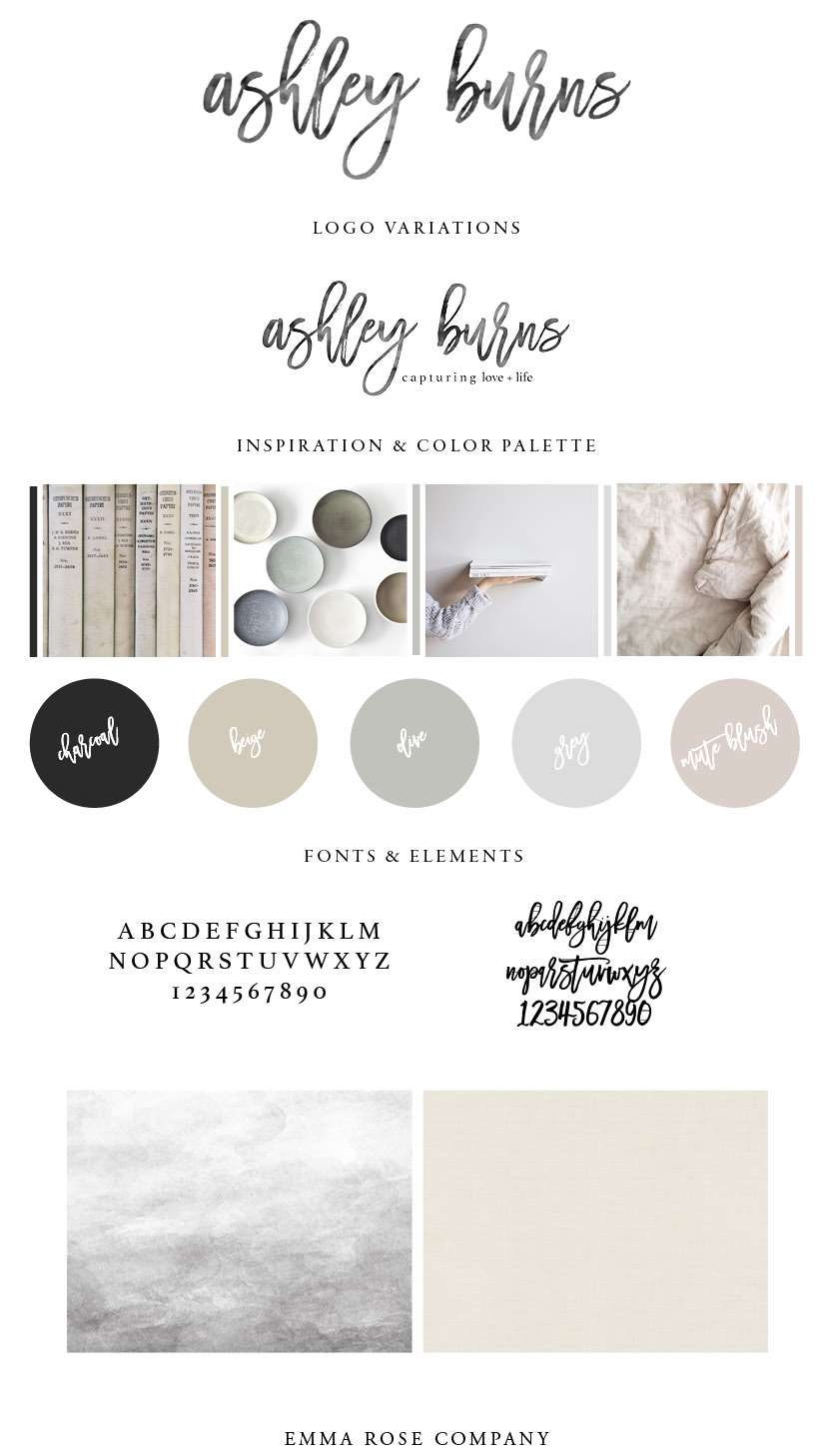 Ashley Burns Photography Brand Style Guide