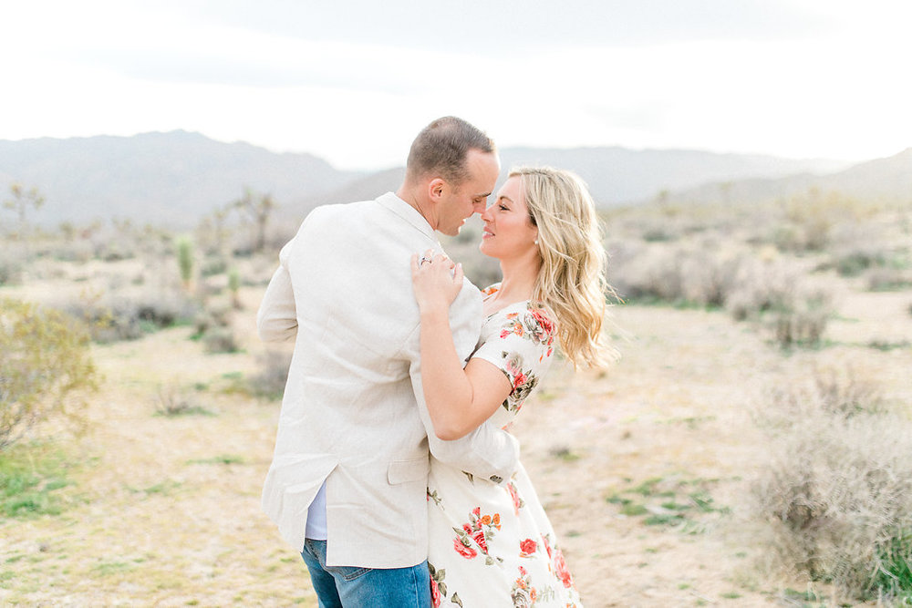 Joshua Tree Engagement Session | What to Wear for Pictures | Southern California Wedding Photographer | Mastin Labs Fuji Film | Fine Art Photographer | Desert Shoot | Desert Sunset.jpg