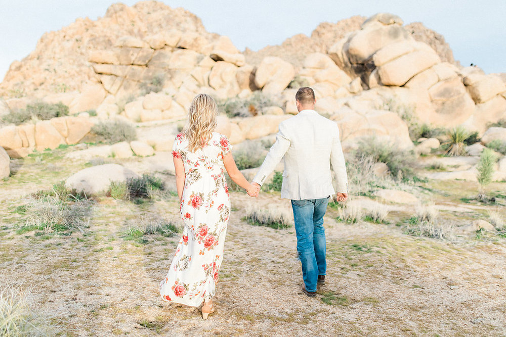 Joshua Tree Engagement Session | What to Wear for Pictures | Southern California Wedding Photographer | Mastin Labs Fuji Film | Fine Art Photographer | Desert Shoot | Desert Walk.jpg