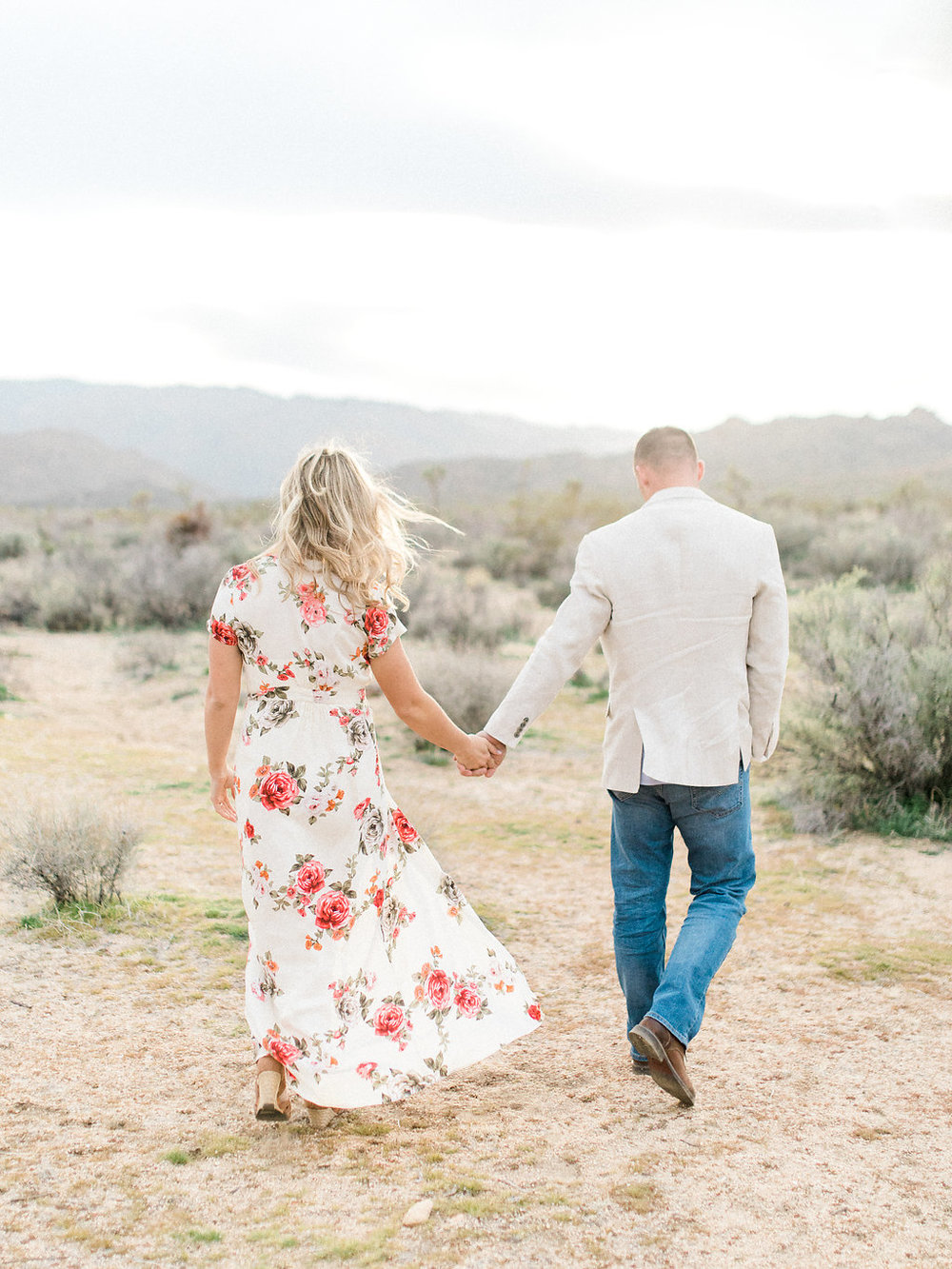 Joshua Tree Engagement Session | What to Wear for Pictures | Southern California Wedding Photographer | Mastin Labs Fuji Film | Fine Art Photographer | Desert Shoot | Hand in Hand Gorgeous Dress.jpg