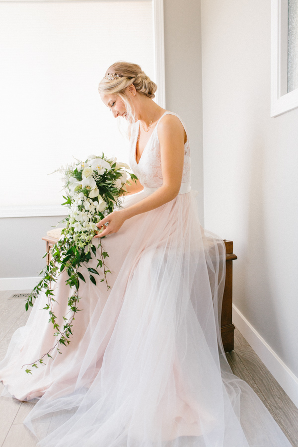 Intimate Backyard Blush Fairytale Wedding | Wenatchee Wedding Photographer | Fine Art Seattle Wedding Photographer | Blush Wedding | Wedding Details | Getting Ready | Bridal Portrait