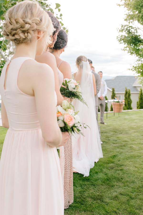 Intimate Backyard Blush Fairytale Wedding | Wenatchee Wedding Photographer | Fine Art Seattle Wedding Photographer | Blush Wedding | Wedding Details | Outdoor Ceremony