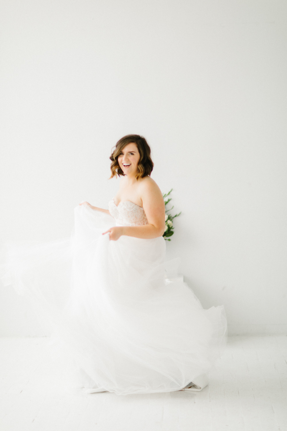 Seattle Fine Art Wedding Photographer | Seattle Downtown White Studio Bridal Session | Stunning Wedding Bouquet | Seattle Bride | Seattle Wedding | Photography Studio Space | Emma Rose Company Wedding Photography-5.jpg