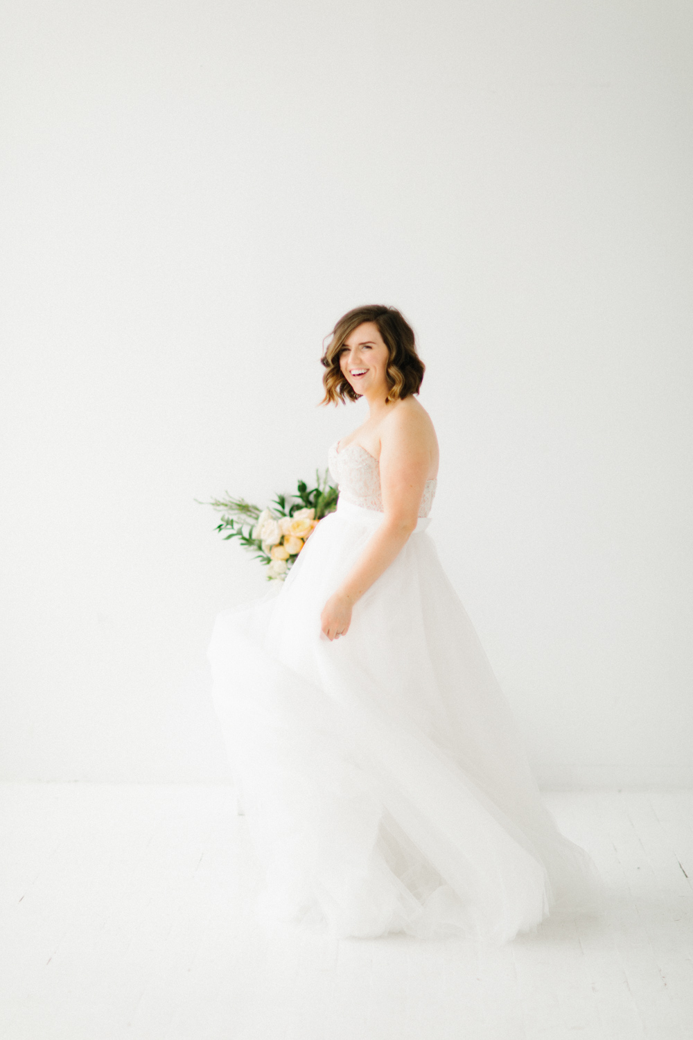 Seattle Fine Art Wedding Photographer | Seattle Downtown White Studio Bridal Session | Stunning Wedding Bouquet | Seattle Bride | Seattle Wedding | Photography Studio Space | Emma Rose Company Wedding Photography-6.jpg
