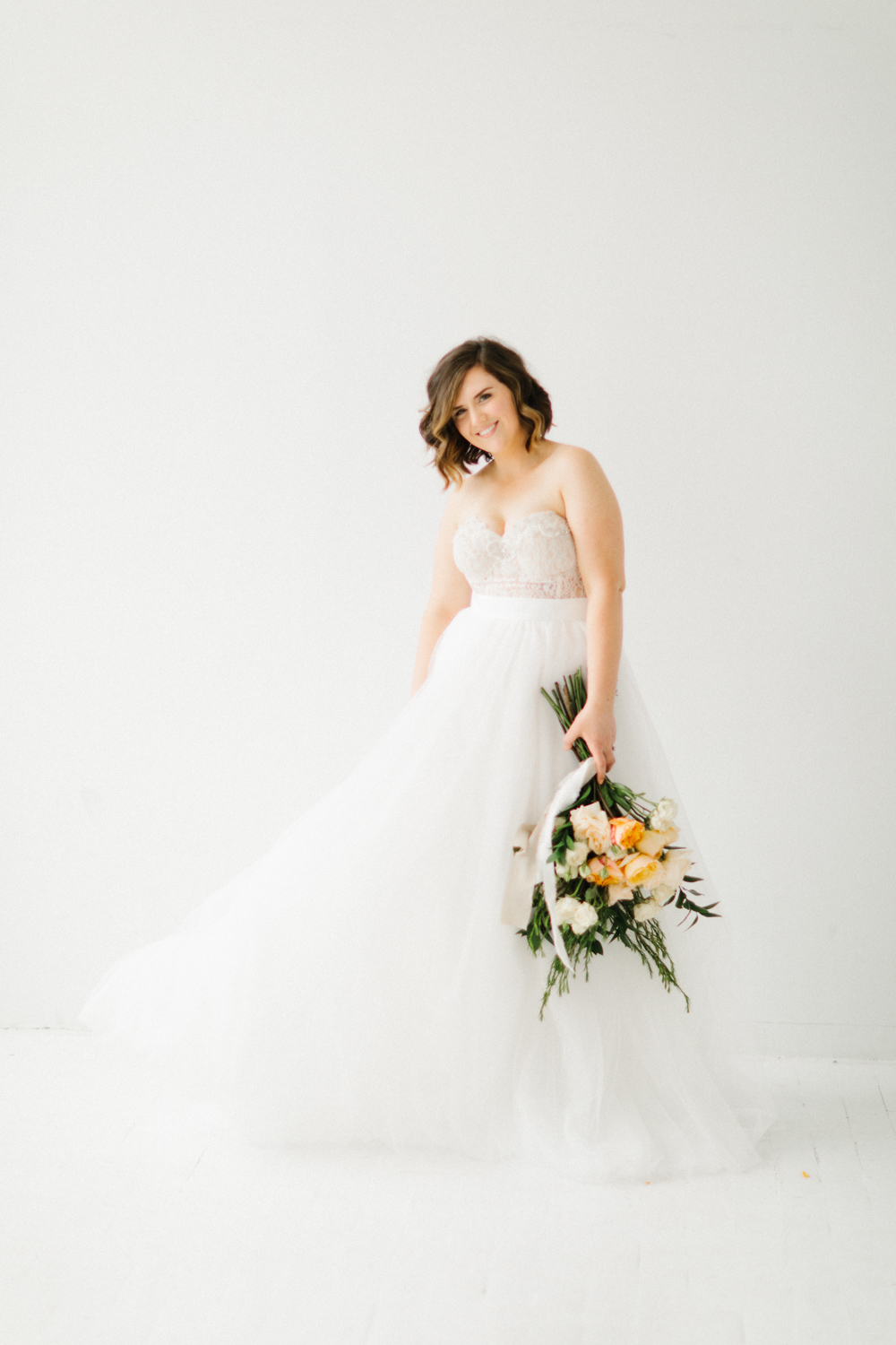 Seattle Fine Art Wedding Photographer | Seattle Downtown White Studio Bridal Session | Stunning Wedding Bouquet | Seattle Bride | Seattle Wedding | Photography Studio Space | Emma Rose Company Wedding Photography-7.jpg