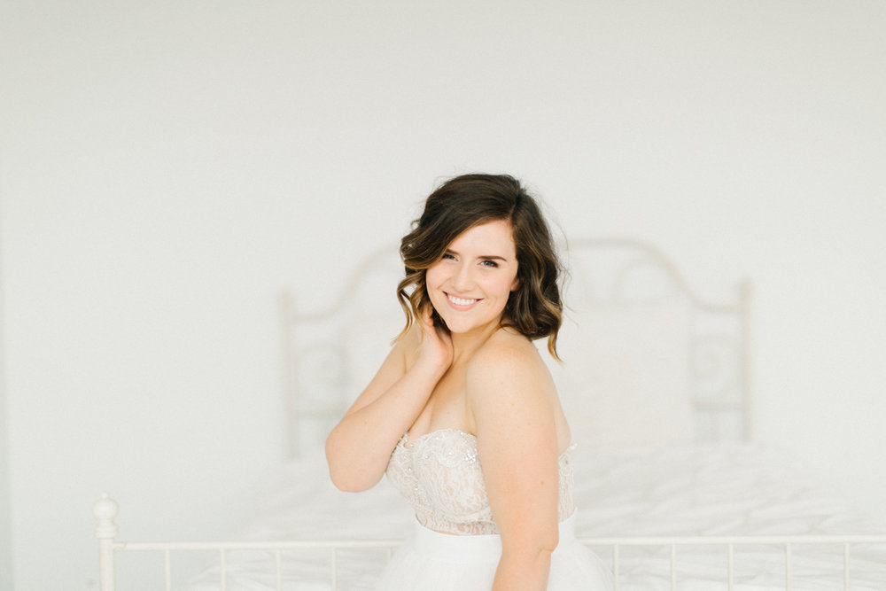 Seattle Fine Art Wedding Photographer | Seattle Downtown White Studio Bridal Session | Stunning Wedding Bouquet | Seattle Bride | Seattle Wedding | Photography Studio Space | Emma Rose Company Wedding Photography-35.jpg