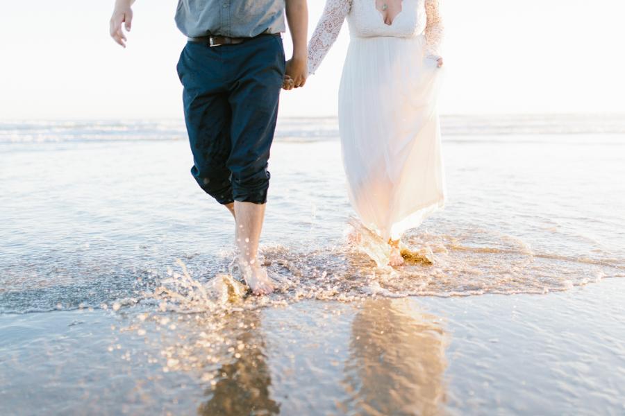 Oceanside Oregon Beach Wedding | Sunset Portraits by the Ocean | Oregon Bride | Oregon Wedding Photography | Wedding on the Beach | Bride and Groom Beach Portraits-20.jpg