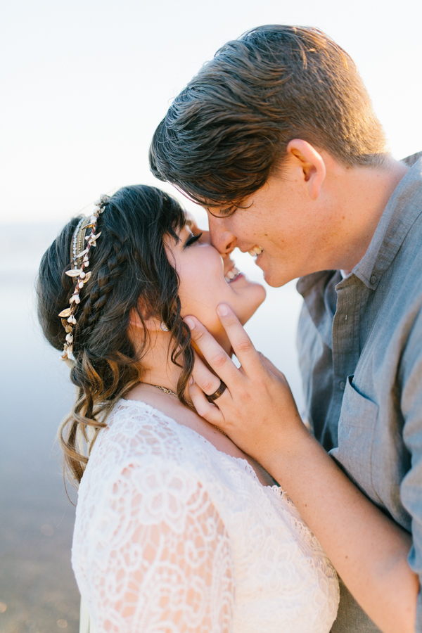 Oceanside Oregon Beach Wedding | Sunset Portraits by the Ocean | Oregon Bride | Oregon Wedding Photography | Wedding on the Beach | Bride and Groom Beach Portraits-22.jpg