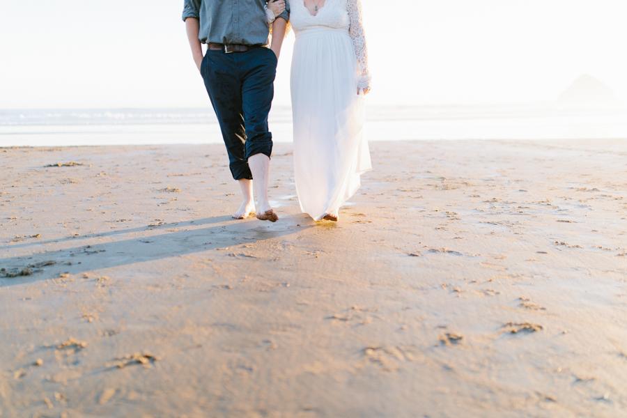 Oceanside Oregon Beach Wedding | Sunset Portraits by the Ocean | Oregon Bride | Oregon Wedding Photography | Wedding on the Beach | Bride and Groom Beach Portraits-25.jpg