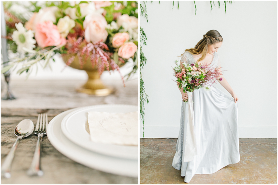 Studio Inspired Styled Shoot | Vintage Grey Inspired Shoot | VSCO | Rent The Runway | Wedding Bouquet with Mint | | Emma Rose Company.jpg