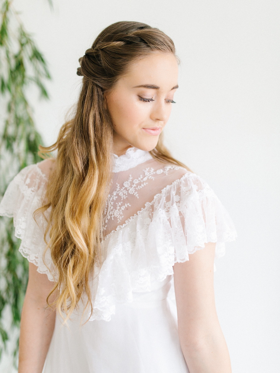 Studio Inspired Styled Shoot Behind the Scenes | How to put together a styled shoot | Rhodesia Flower Florist South Bend, Washington | Emma Rose Company Studio Session | VSCO | Grey Session | White Vintage Lace Wedding Gown-3.jpg