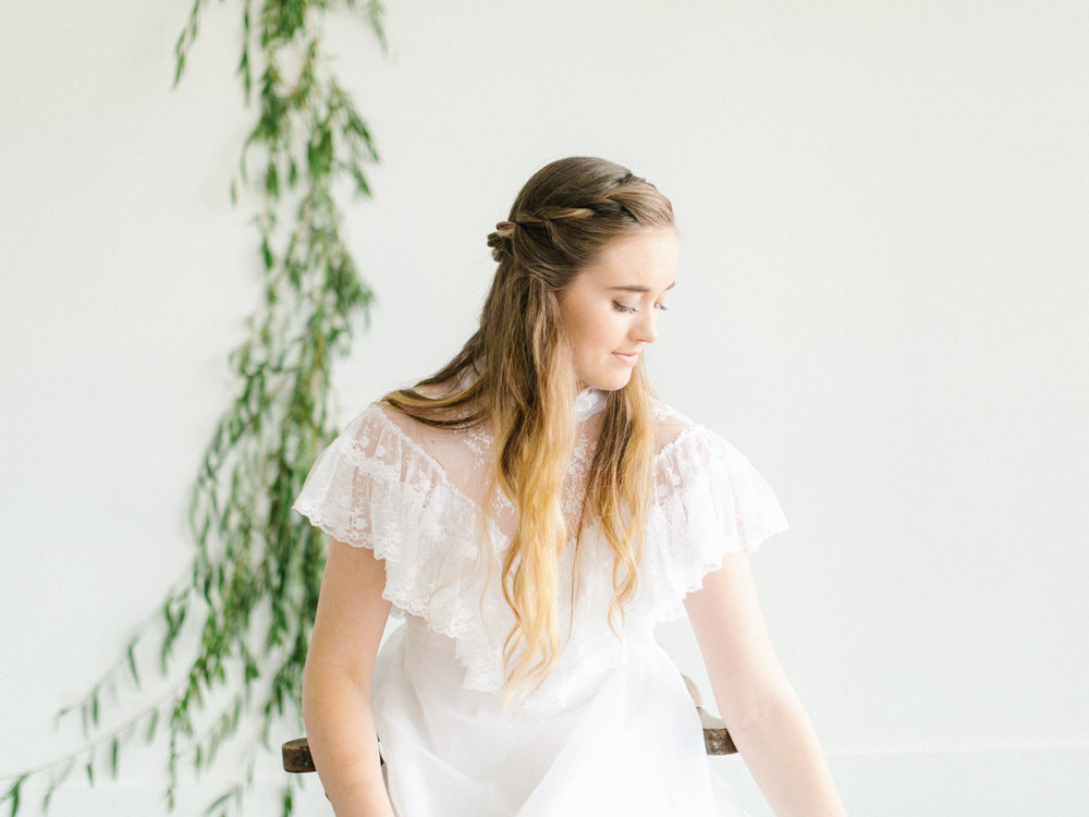 Studio Inspired Styled Shoot Behind the Scenes | How to put together a styled shoot | Rhodesia Flower Florist South Bend, Washington | Emma Rose Company Studio Session | VSCO | Grey Session | White Vintage Lace Wedding Gown-12.jpg