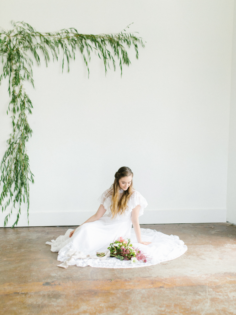 Studio Inspired Styled Shoot Behind the Scenes | How to put together a styled shoot | Rhodesia Flower Florist South Bend, Washington | Emma Rose Company Studio Session | VSCO | Grey Session | White Vintage Lace Wedding Gown-18.jpg