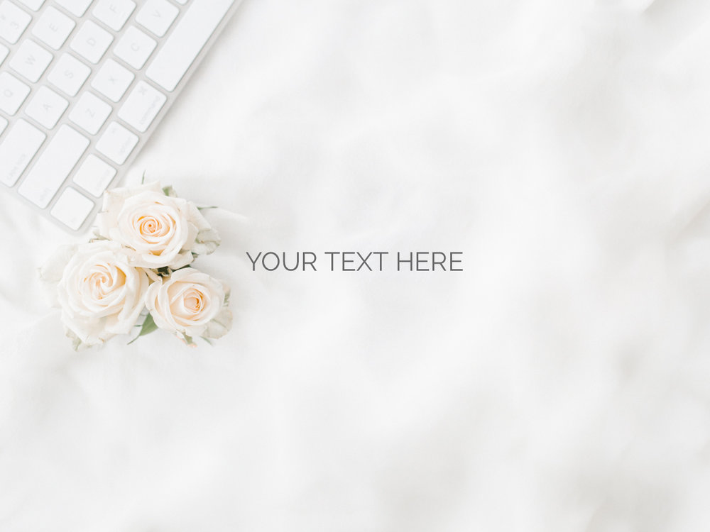 Styled Stock for Marketing Emma Rose Company Keyboard and Blush