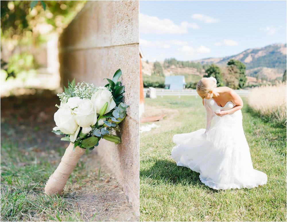 Hampton Hideaway Wedding Wenatchee, Washington | Wedding Details | Custom Wedding Day Hanger | Simple Greenery Wedding Bouquet.jpg