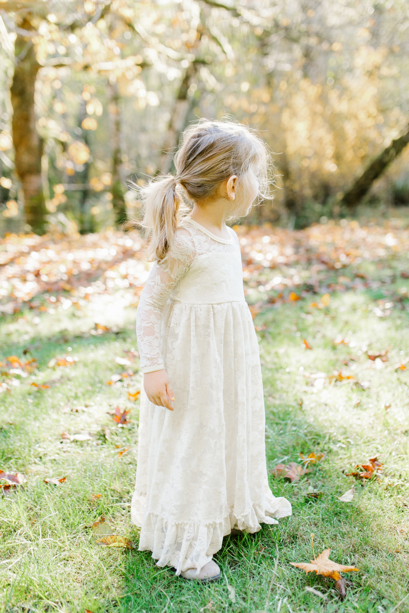 The most perfect fall photo shoot with toddler girl | What to wear to family pictures | Toddler girl in lace dress in woods and fields photo shoot | VSCO | Emma Rose Company | Toddler Outfit Inspiration | Long Lace Dress on Little Girl-14.jpg
