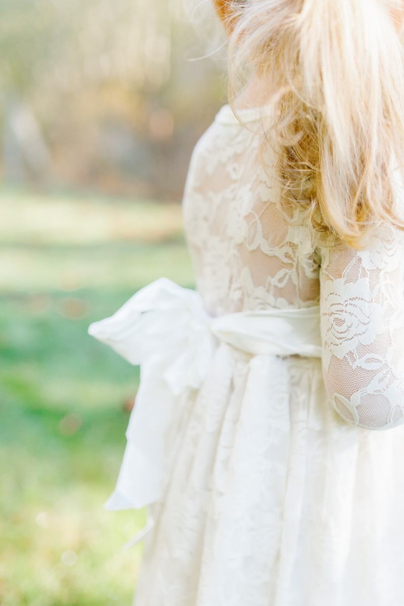 The most perfect fall photo shoot with toddler girl | What to wear to family pictures | Toddler girl in lace dress in woods and fields photo shoot | VSCO | Emma Rose Company | Toddler Outfit Inspiration | Long Lace Dress on Little Girl-15.jpg