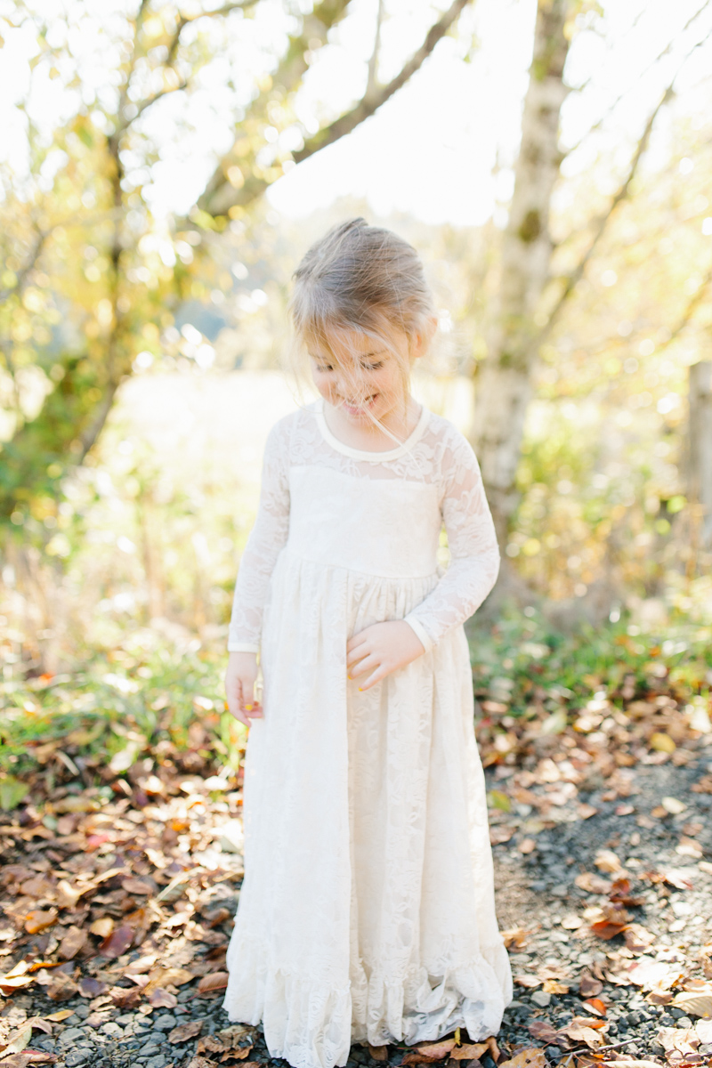 The most perfect fall photo shoot with toddler girl | What to wear to family pictures | Toddler girl in lace dress in woods and fields photo shoot | VSCO | Emma Rose Company | Toddler Outfit Inspiration | Long Lace Dress on Little Girl-24.jpg