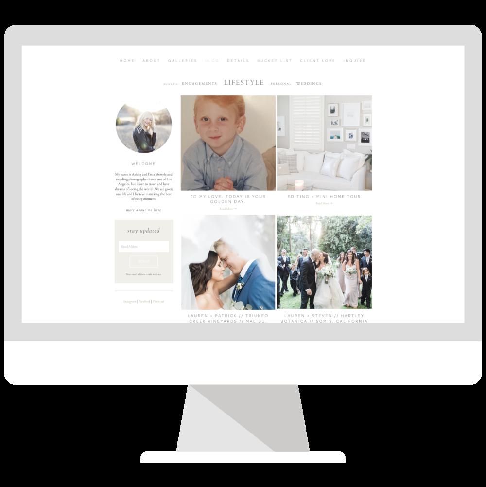 Emma Rose Company Squarespace Website Designer | Ashley Burns Photography Website Launch | Project Details Portfolio