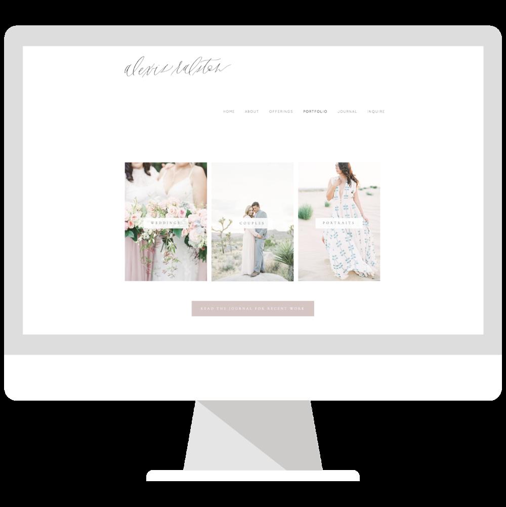 Emma Rose Company Squarespace Website Designer   Alexis Ralston Photography Website Launch   Project Details Portfolio