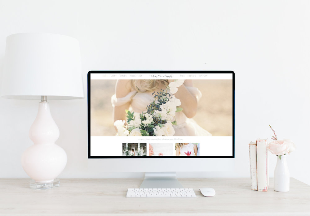 Emma Rose Company Squarespace Website Designer | Whitney Krenek Photography Website Launch | Project Details Portfolio