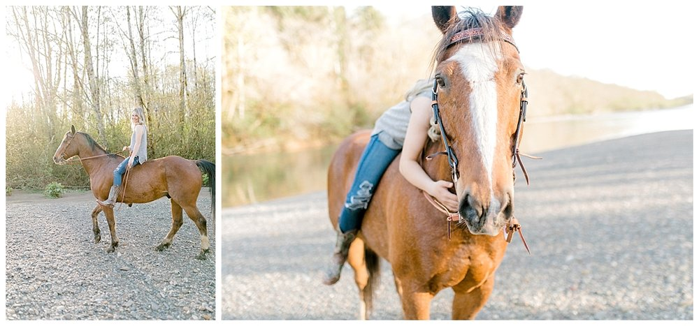 Sunset Senior Session with Horse | Senior Session Inspiration Session | Horse Photo Session | Pacific Northwest Light and Airy Wedding and Portrait Photographer | Emma Rose Company | Kindred Presets Clyde.jpg