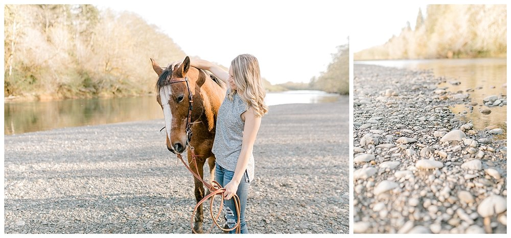 Sunset Senior Session with Horse | Senior Session Inspiration Session | Horse Photo Session | Pacific Northwest Light and Airy Wedding and Portrait Photographer | Emma Rose Company | Kindred Presets Dreamy Sunset.jpg