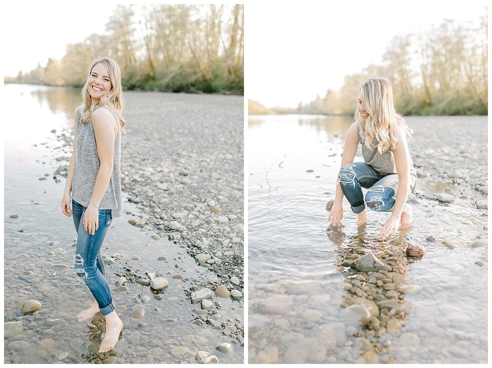 Sunset Senior Session with Horse | Senior Session Inspiration Session | Horse Photo Session | Pacific Northwest Light and Airy Wedding and Portrait Photographer | Emma Rose Company | Kindred Presets | River Session.jpg