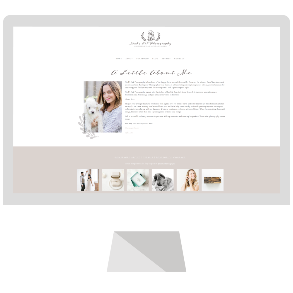 Emma Rose Company Squarespace Website Designer | Noah's Ark Photography Website Launch | Project Details Portfolio