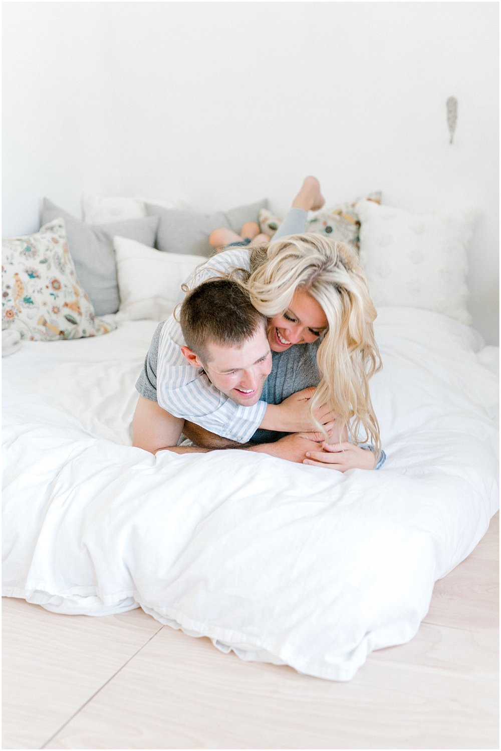 Emma Rose Company Family Pictures, What to Wear to Family Portraits, Lora Grady Photography, Seattle Portrait and Wedding Photographer, Intimate Couples Session on Bed1