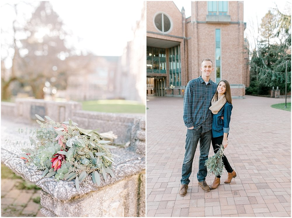 University of Washington Engagement Session | College Campus Photo Session | UW | Seattle Engagement Session | Seattle Wedding Photographer | Emma Rose Company6.jpg