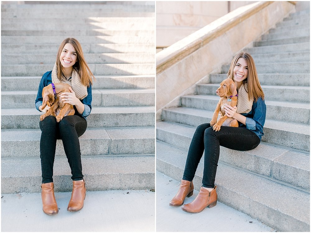 University of Washington Engagement Session | Denny Hall | UW | Seattle Engagement Session | Seattle Wedding Photographer | Emma Rose Company | Vizsla Puppy4.jpg