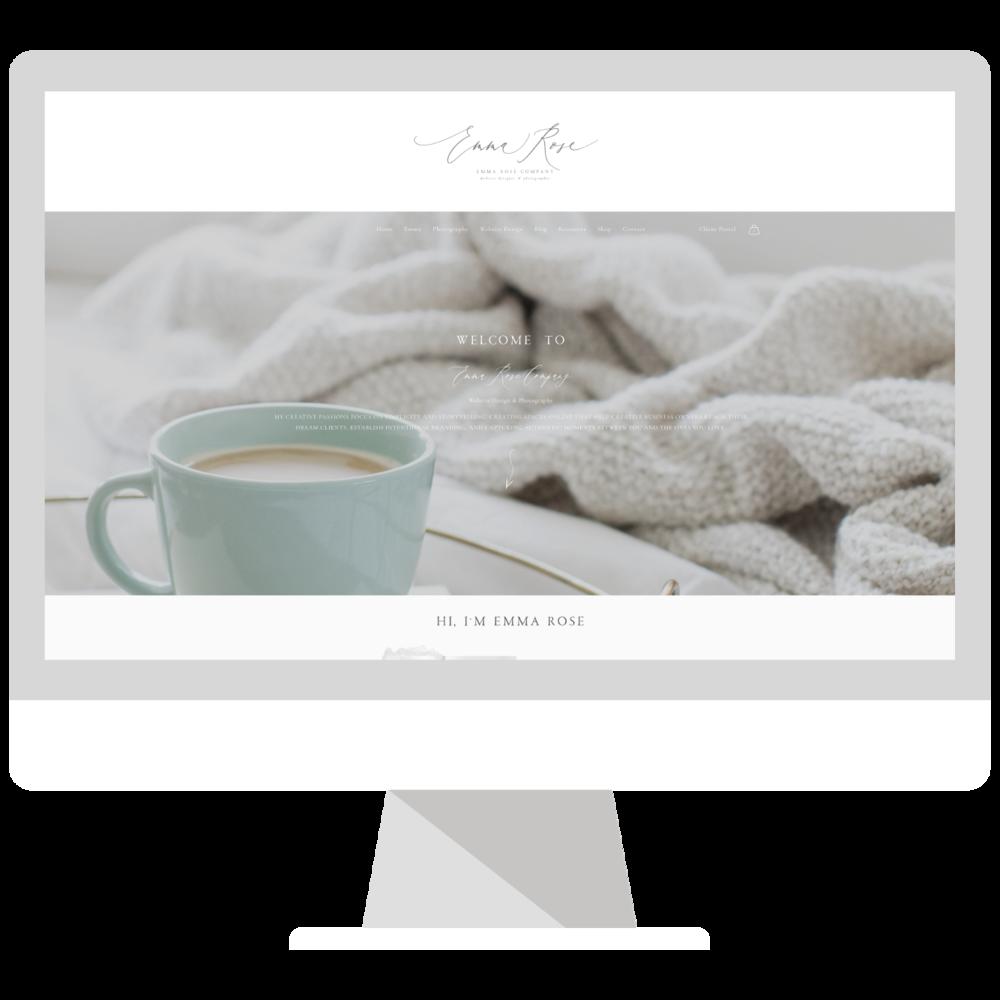 Emma Rose Company Squarespace Website Designer Brand Revamp   Gorgeous Branding   Grey Brand Design