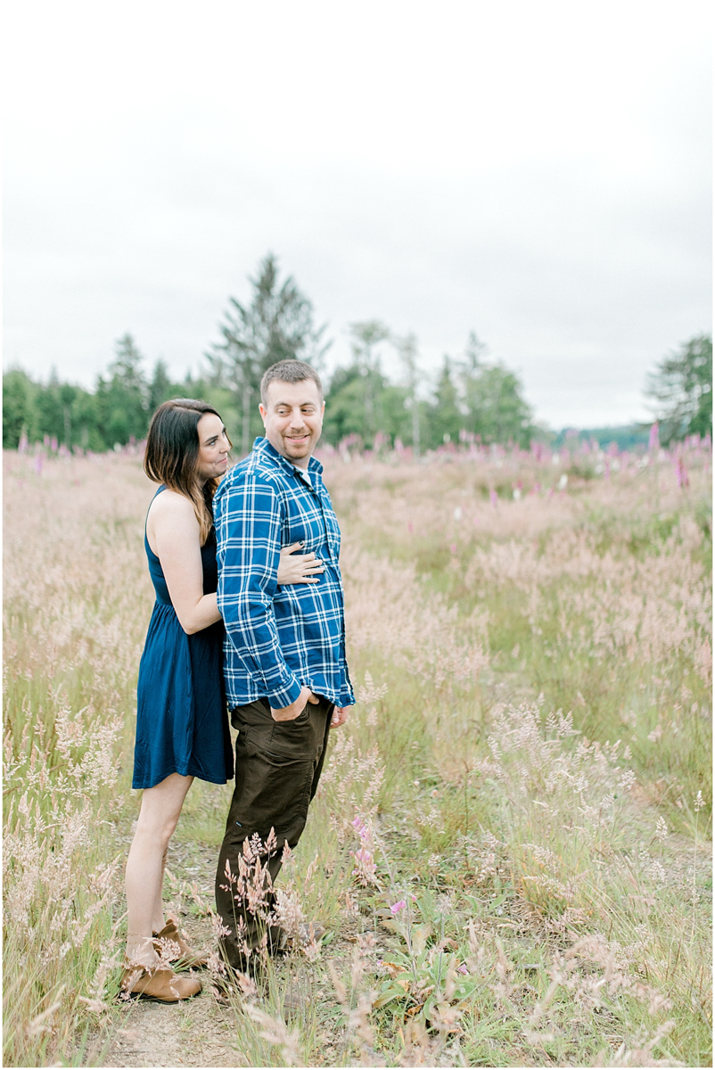 Beautiful Evening Engagement Session on Rose Ranch | Emma Rose Company Seattle and Olympia Wedding and Portrait Photographer | Engagement in Foxglove Field | Flowers | Pacific Northwest Wedding and Elopement Photographer-41.jpg