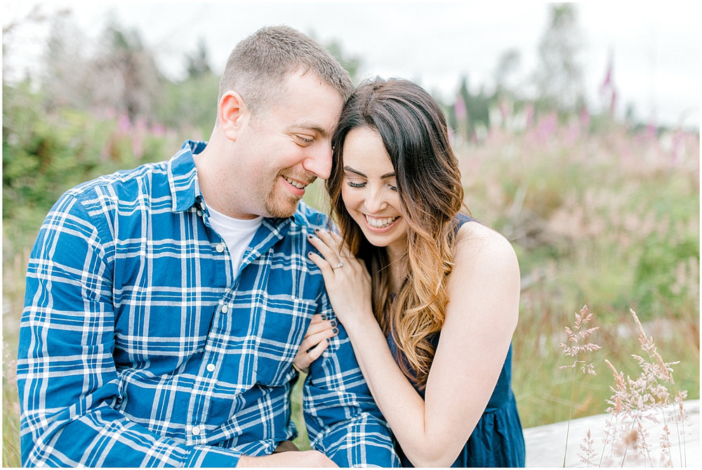 Beautiful Evening Engagement Session on Rose Ranch | Emma Rose Company Seattle and Olympia Wedding and Portrait Photographer | Engagement in Foxglove Field | Flowers | Pacific Northwest Wedding and Elopement Photographer-37.jpg