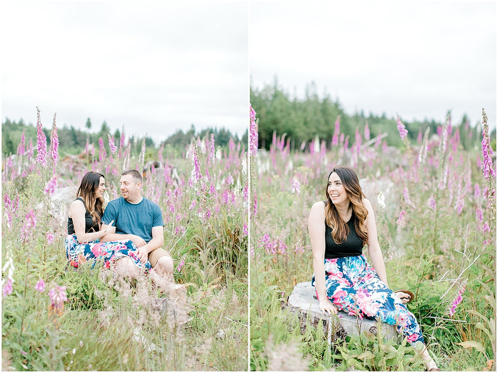 Beautiful Evening Engagement Session on Rose Ranch | Emma Rose Company Seattle and Olympia Wedding and Portrait Photographer | Engagement in Foxglove Field | Flowers | Pacific Northwest Wedding and Elopement Photographer-22.jpg