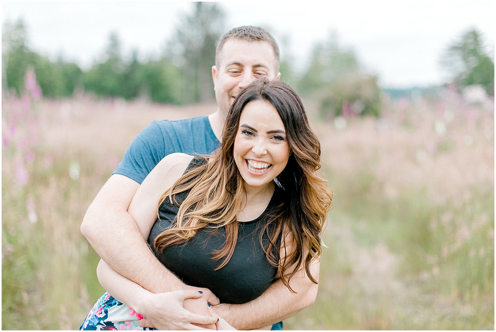 Beautiful Evening Engagement Session on Rose Ranch | Emma Rose Company Seattle and Olympia Wedding and Portrait Photographer | Engagement in Foxglove Field | Flowers | Pacific Northwest Wedding and Elopement Photographer-19.jpg