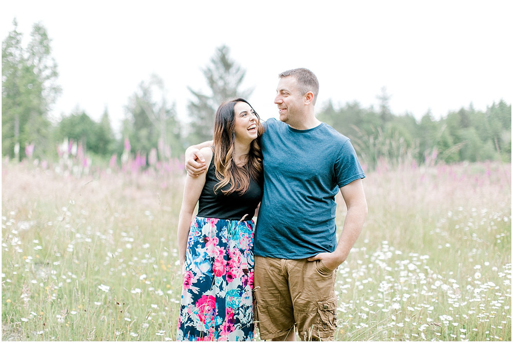 Beautiful Evening Engagement Session on Rose Ranch | Emma Rose Company Seattle and Olympia Wedding and Portrait Photographer | Engagement in Foxglove Field | Flowers | Pacific Northwest Wedding and Elopement Photographer-4.jpg