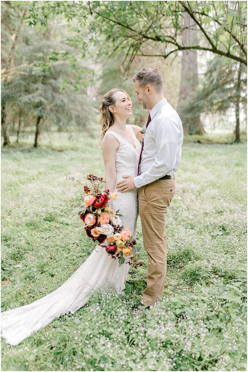 Pacific Northwest Elopement on Rose Ranch | Emma Rose Company Seattle and Portland Wedding Photographer | Engaged | Lace Wedding Gown | Peonie and ranunculus bouquet-9.jpg