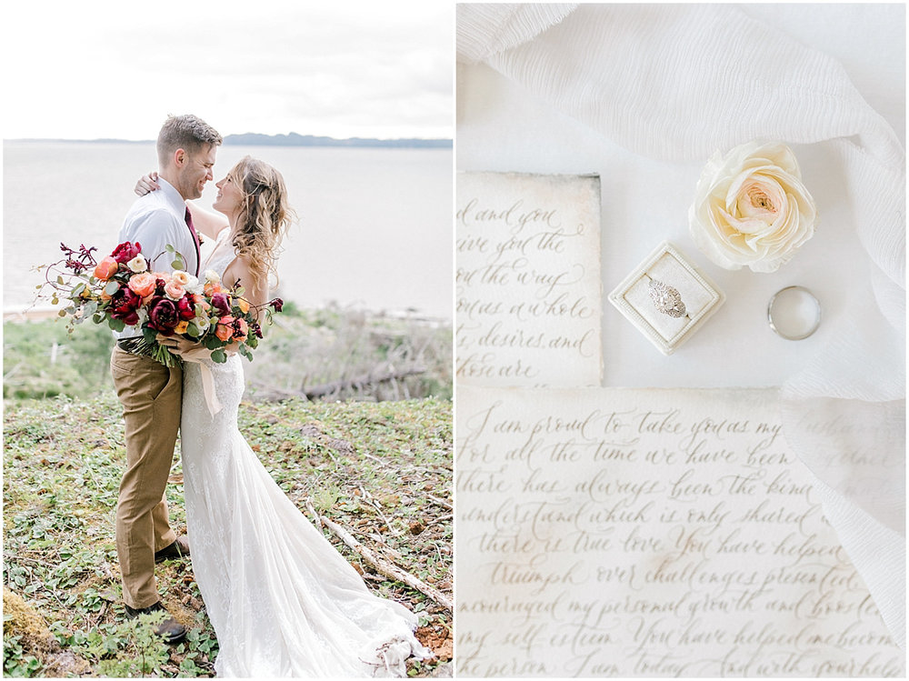 Pacific Northwest Elopement on Rose Ranch | Emma Rose Company Seattle and Portland Wedding Photographer | Engaged | Lace Wedding Gown | Peonie and ranunculus bouquet-22.jpg